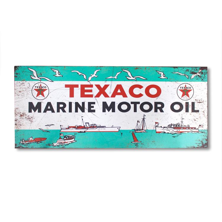 看板 ビッグメタルサイン TEXACO テキサコ #211749 幅132×高さ56×厚さ1cm スチール製 屋内仕様 店舗装飾 壁面ディスプレー アメリカ雑貨