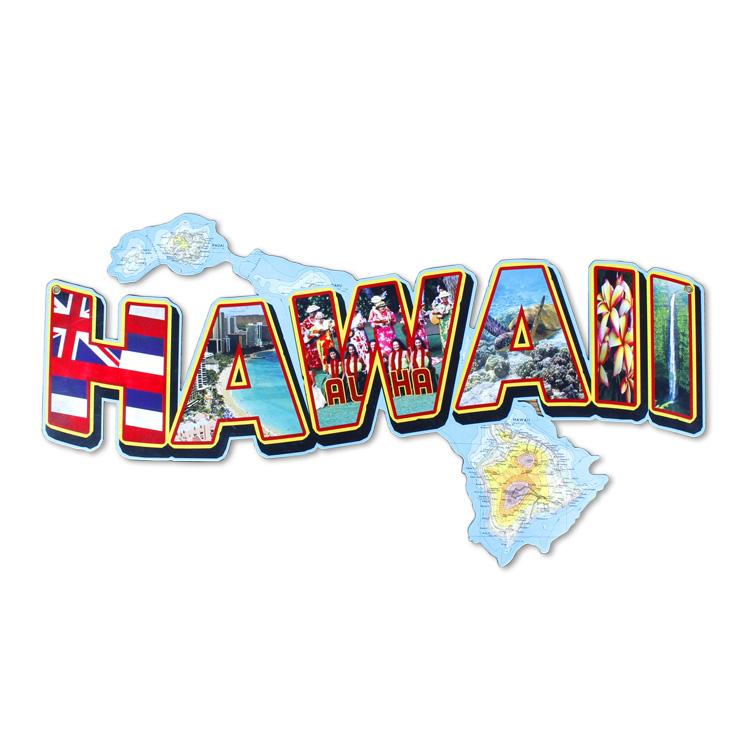 看板 アメリカンスティールサイン「HAWAII Landmarks」 PS-224 UVカットコーティング アメリカ製 インテリア ハワイ ハワイアン アメリカン雑貨