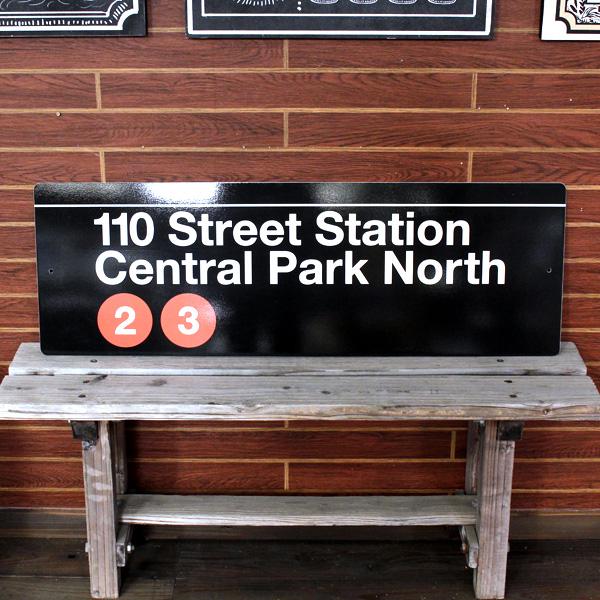NEW YORK サブウェイサイン (L ) 「Central Park」 SW-4-L ニューヨークの地下鉄看板 ストリートサイン アメリカ雑貨 アメリカン雑貨