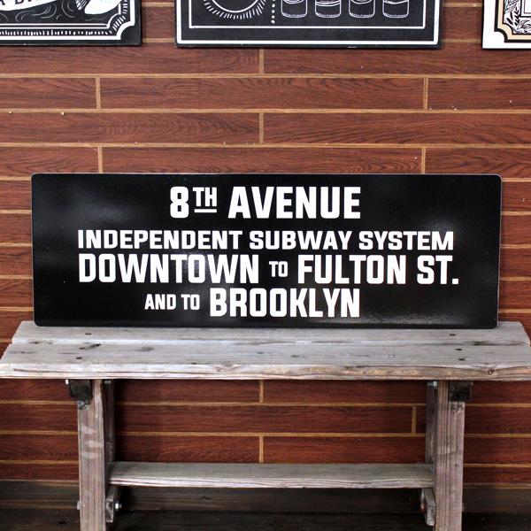 NEW YORK サブウェイサイン (L ) 「Vintage -8th Av」 SW-7-L ニューヨークの地下鉄看板 ストリートサイン アメリカ雑貨 アメリカン雑貨