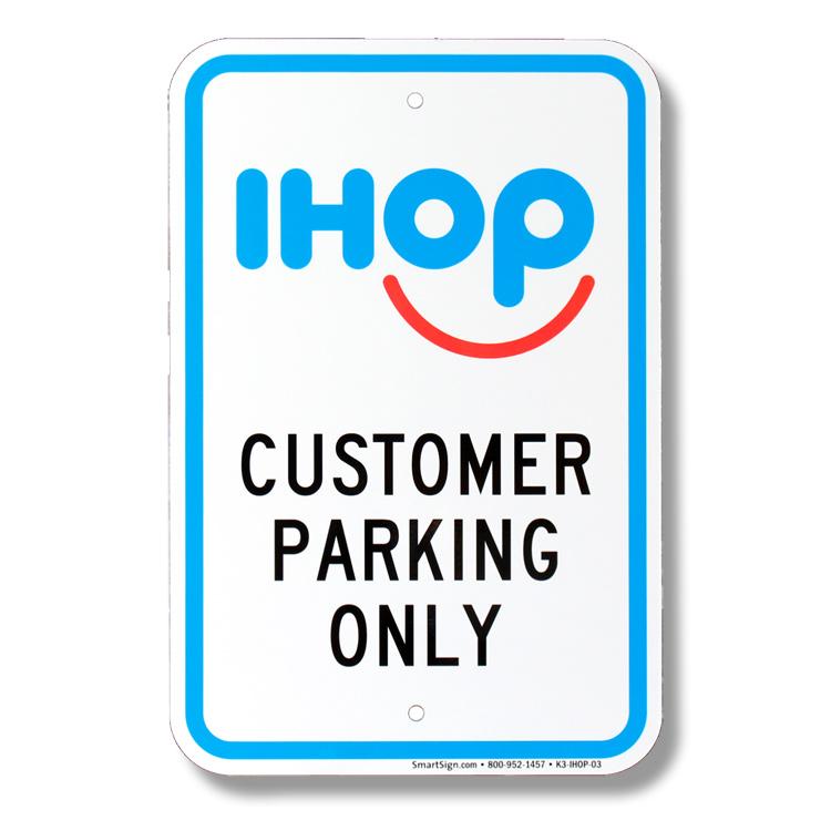 パーキングサイン IHOP アイホップ 44.5×30.5cm アメリカ製道路標識 デッドストック 標識 アメリカ雑貨