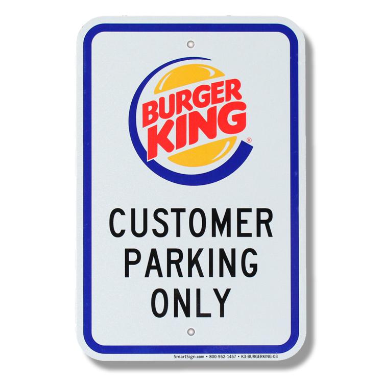 パーキングサイン Burger King バーガーキング 44.5×30.5cm アメリカ製道路標識 デッドストック 標識 アメリカ雑貨