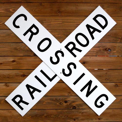 トラフィックサイン RAIL ROAD CROSSING アメリカ雑貨 アメリカン雑貨
