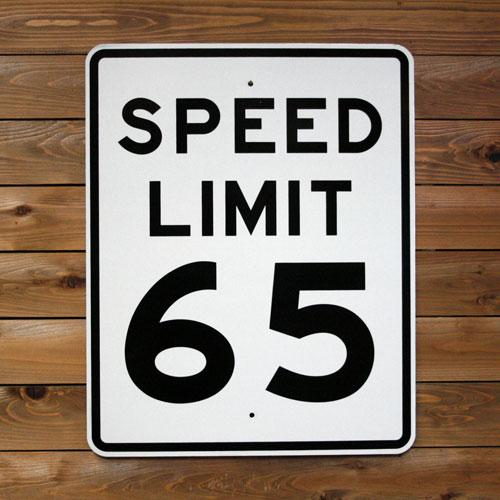 トラフィックサイン SPEED LIMIT 65 (最高速度65マイル ) アメリカの道路標識 アメリカ雑貨 アメリカン雑貨