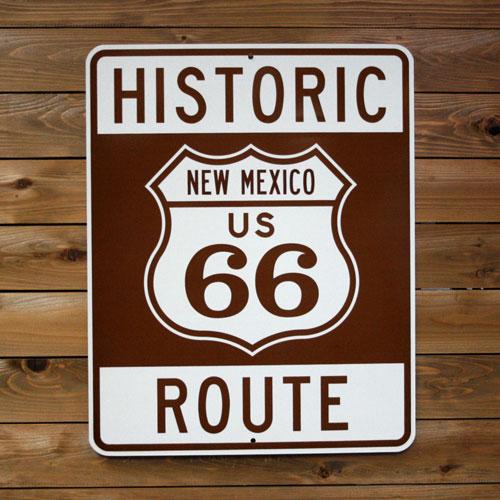 トラフィックサイン HISTORIC ROUTE66 (NEW MEXICO ) アメリカ雑貨 アメリカン雑貨