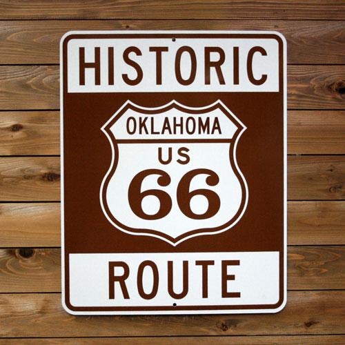 トラフィックサイン HISTORIC ROUTE66 (OKLAHOMA ) アメリカ雑貨 アメリカン雑貨