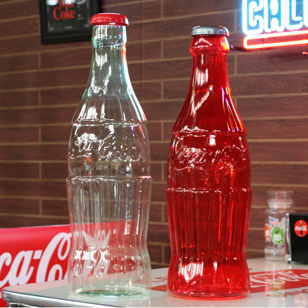 COCA-COLA BRAND Coca-Cola brand item collection large contour bottle bank  (red)