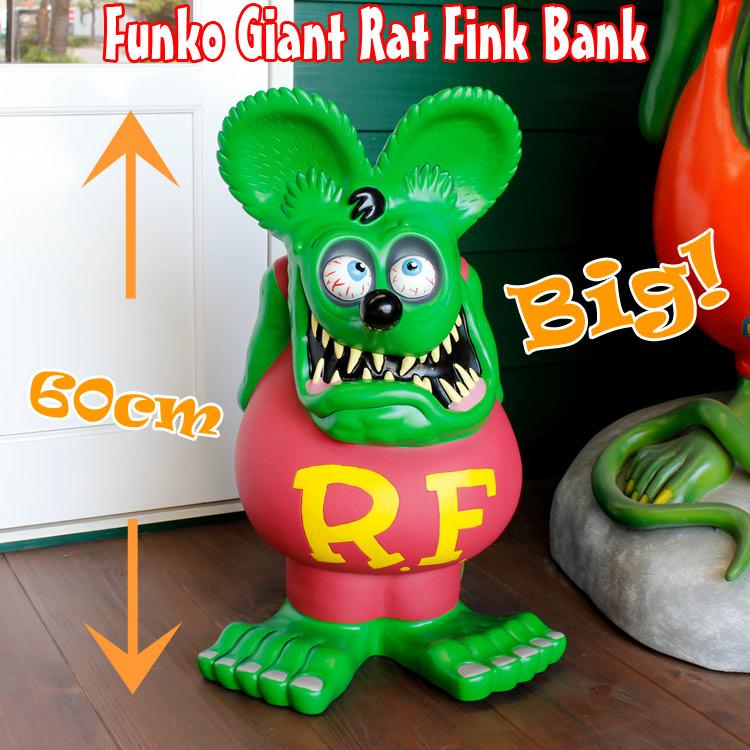 貯金箱 フィギュア 大型 RAT FINK ラットフィンク 24インチビッグバンク(グリーン) アメリカン雑貨