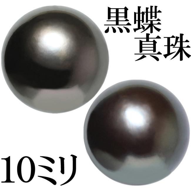 南洋 黒蝶真珠 パール 約10mm ピアス Pt900 スタッド フォーマル【中古】【新品仕上げ済】