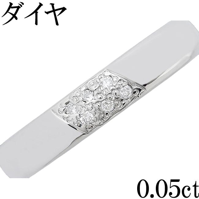 ダイヤ 0.05ct Pt900 リング 指輪 10.5号【中古】【新品仕上げ済】