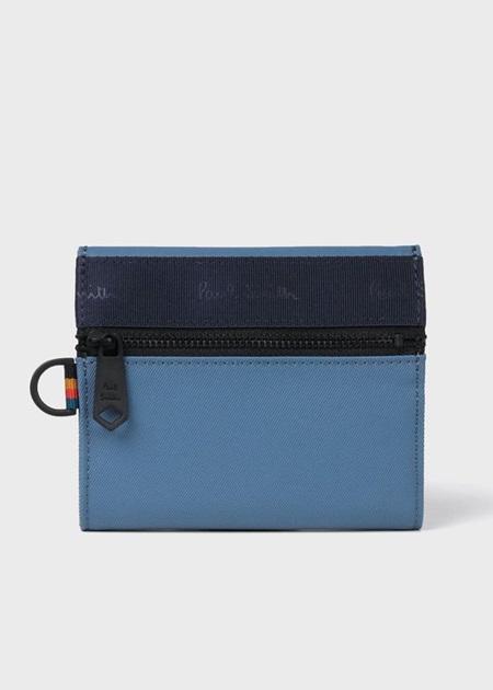 ポールスミス 折財布 ブランデッドウェビング 札入れ ブルー Paul Smith ポール スミス