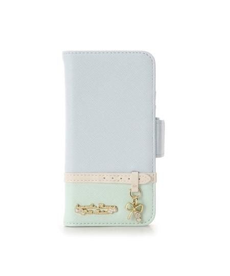 サマンサタバサ モバイルケース Iphone7-8 ベルトリボンモチーフ ライトブルー SamanthaThavasaPetitChoice サマンサ タバサ プチチョイス