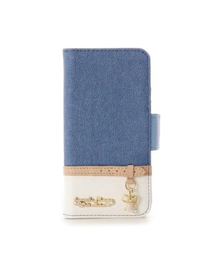 サマンサタバサ モバイルケース iphone7-8 デニムベルトリボンモチーフ iphoneケース ライトブルー SamanthaThavasaPetitChoice サマンサ タバサ プチチョイス