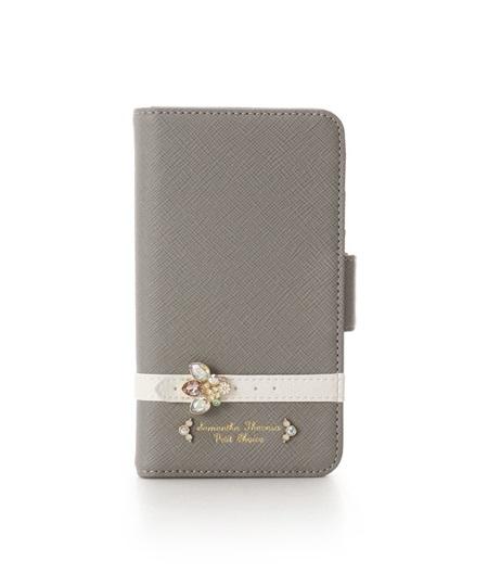 サマンサタバサ モバイルケース iphone11 PRO ビジューベルト グレー SamanthaThavasaPetitChoice サマンサ タバサ プチチョイス