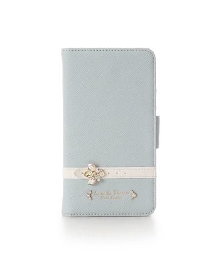 サマンサタバサ モバイルケース iphone11 ビジューベルト ライトブルー SamanthaThavasaPetitChoice サマンサ タバサ プチチョイス