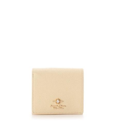 サマンサタバサ 折財布 エリップスストーン BOX型コインケース イエロー SamanthaThavasaPetitChoice サマンサ タバサ プチチョイス