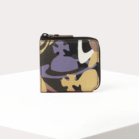 ヴィヴィアンウエストウッド 折財布 カモフラージュORB L字ファスナー折財布 カーキ Vivienne Westwood ヴィヴィアン ウエストウッド