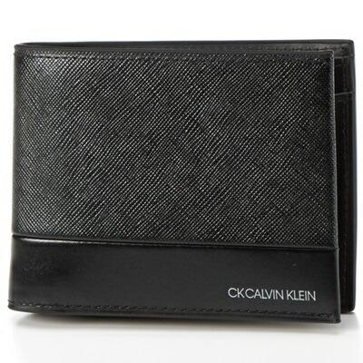 カルバンクライン 折財布 アロイII 2つ折り ブラック CalvinKlein