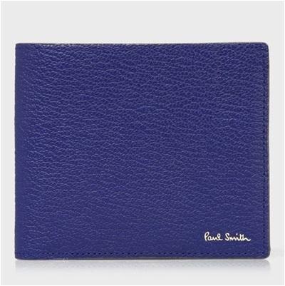 ポールスミス 折財布 カラーブロックゴート 二つ折り ブルー Paul Smith PaulSmith ポール・スミス