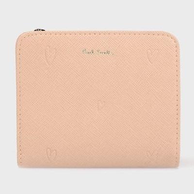 ポールスミス 折財布 スミシーハート 2つ折り ピンク Paul Smith ポール スミス
