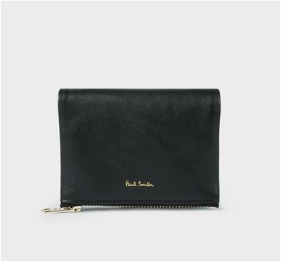 ポールスミス 折財布 メタリックポップ 2つ折り財布 ブラック Paul Smith