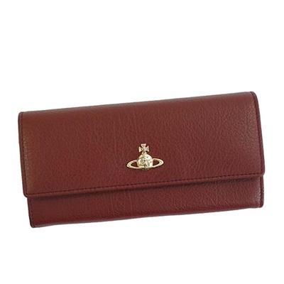 ヴィヴィアンウエストウッド 長財布 BALMORAL かぶせ バーガンディ Vivienne Westwood ヴィヴィアン ウエストウッド
