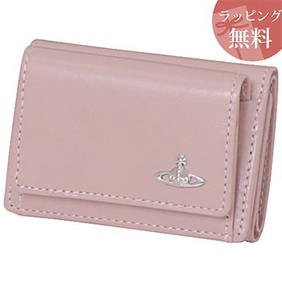 ヴィヴィアンウエストウッド 財布 折財布 三つ折り ヴィンテージ WATER ORB ピンク 限定カラー Vivienne Westwood