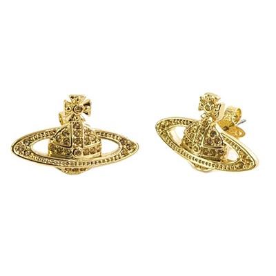 ヴィヴィアンウエストウッド ピアス MINI BAS RELIEF EARRINGS ゴールド Vivienne Westwood