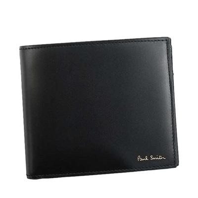 ポールスミス 財布 折財布 二つ折り ミニクーパープリント ブラック Paul Smith