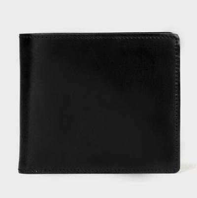 ポールスミス 財布 折財布 PC蝋引きコードバン 二つ折り ブラック Paul Smith