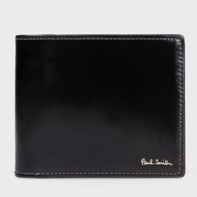 ポールスミス 財布 折財布 コードバン 二つ折り ブラック Paul Smith
