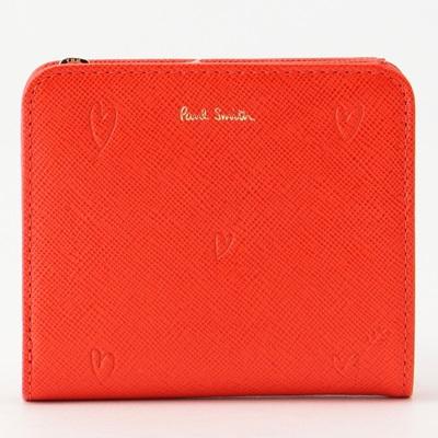 ポールスミス 財布 折財布 二つ折り スミシーハート レッド Paul Smith