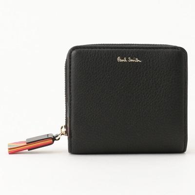 ポールスミス 財布 折財布 二つ折り スワールタッセル ブラック Paul Smith