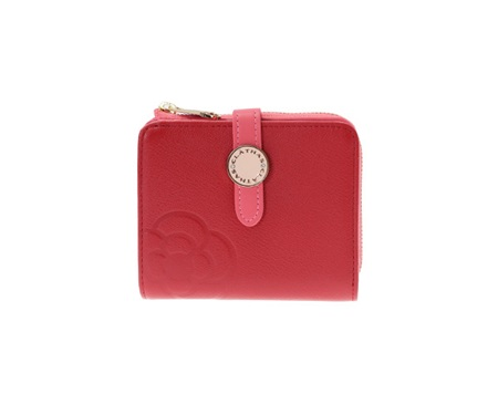 クレイサス 折財布 ブラン Lファスナー 二つ折り財布 レッド CLATHAS レディース プレゼント