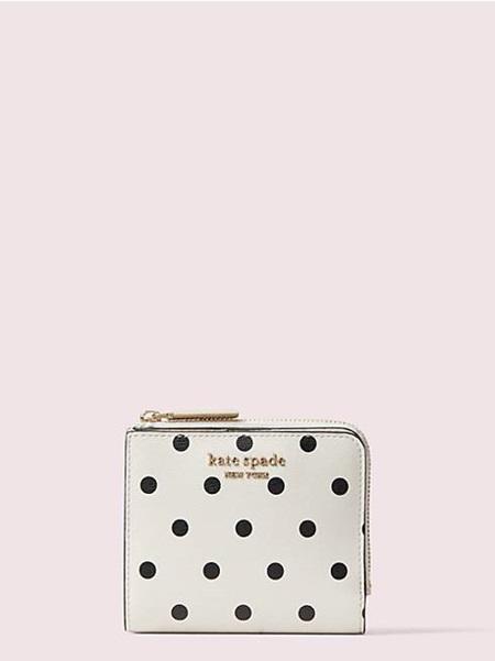 ケイトスペード 折財布 スペンサー カバナ ドット スモール バイフォールド ウォレット OPTIC WHITE MULTI kate spade ケイト スペード