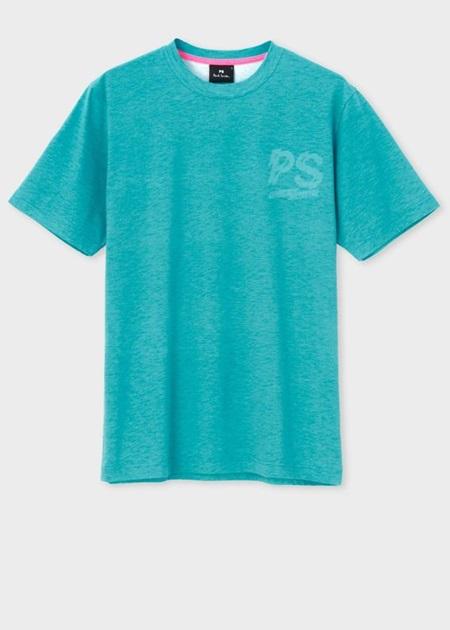 ポールスミス Tシャツ PSロゴ ネオンカラー ライトグリーン L Paul Smith ポール スミス