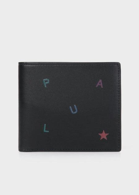 ポールスミス 折財布 ポール・スミス レターズ 2つ折り財布 ブラック Paul Smith ポール スミス