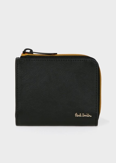 ポールスミス 折財布 ストライプジップ ミニ財布 ブラック Paul Smith ポール スミス