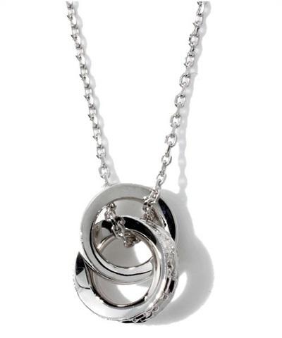 4℃ ヨンドシー K18 ホワイトゴールド ダイヤモンド ネックレス
