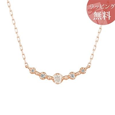 ヨンドシー ネックレス K10ピンクゴールド 6月誕生石 ムーンストーン ダイヤモンド 4℃ レディース ジュエリー
