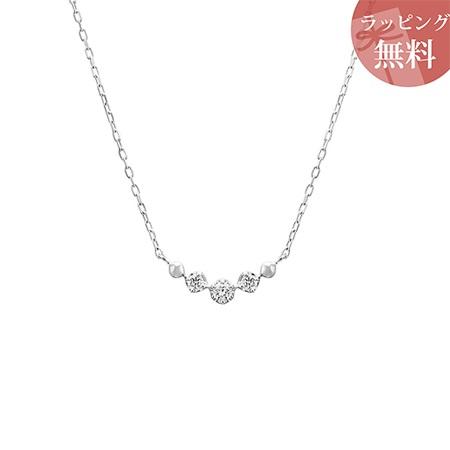 ヨンドシー ネックレス ダイヤモンド ライン K10ホワイトゴールド 4℃ レディース ジュエリー