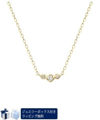 ヨンドシー ネックレス K18イエローゴールドダイアモンド