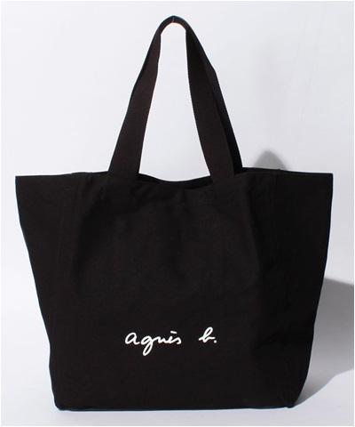 アニエスべー バッグ トートバッグ ロゴ ブラック agnes b アニエス ベー ボヤージュ