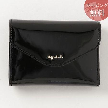 アニエスべー 財布 折財布 レディース ava ウォレット ブラック agnes b アニエス ベー ボヤージュ