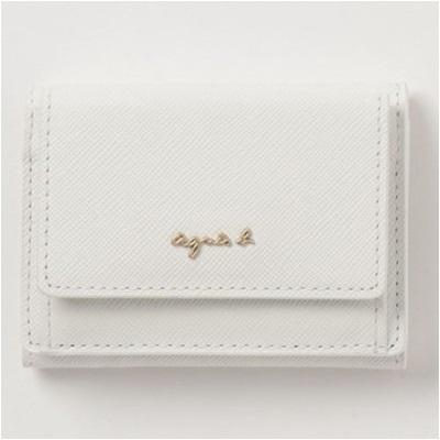 アニエスべー 財布 折財布 三つ折り ホワイト agnes b アニエス ベー ボヤージュ