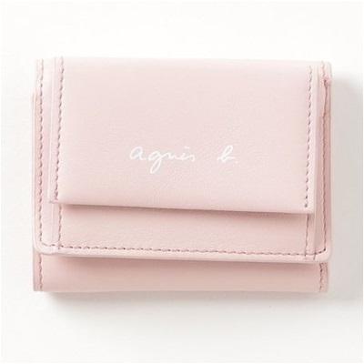 アニエスべー 財布 折財布 三つ折り ピンク agnes b アニエス ベー ボヤージュ