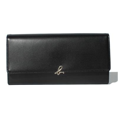 アニエスべー 財布 長財布 かぶせ ブラック agnes b アニエス ベー ボヤージュ