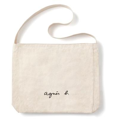 アニエスべー バッグ ショルダーバッグ ロゴ アイボリー agnes b アニエス ベー ボヤージュ