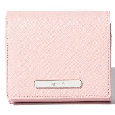 アニエスべー 財布 折財布 二つ折り ピンク agnes b アニエス ベー ボヤージュ