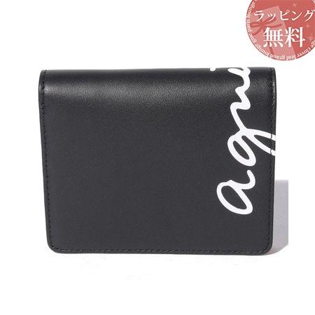 アニエスべー 財布 折財布 レディース ロゴウォレット ブラック agnes b アニエス ベー ボヤージュ